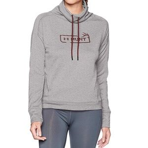 Under Armour Hunt Graphic Cowl Neck Sweater Large